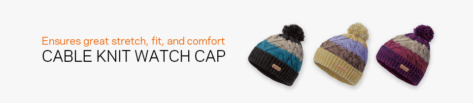 Cable Knit Watch Cap #1